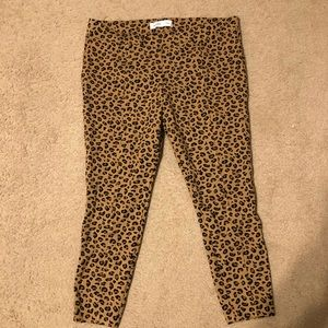 Old navy leopard Stevie pants